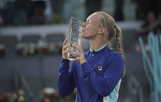 san francisco 4abe5 5049f FILA sponsored tennis player Kiki Bertens capped off a dominating week of  tennis Saturday in Madrid, defeating Simona Halep 6-4, 6-4 to capture the  Mutua ...